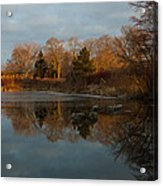 Reflections In My Favorite Pond Acrylic Print