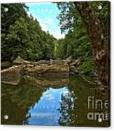 Reflections In Slippery Rock Creek Acrylic Print