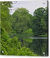 Reflections In Spring Green Acrylic Print