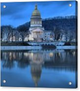 Reflections In The Kanawha River Acrylic Print