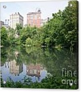 Reflections In The Pool Acrylic Print