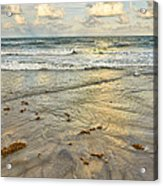 Reflections In The Sand Acrylic Print