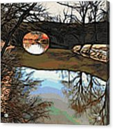 Reflections In The Water Acrylic Print