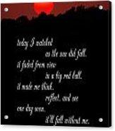 Reflections In Twilight Acrylic Print