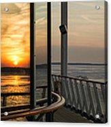 Reflections Of A Chesapeake Sunset Acrylic Print