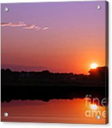 Reflections Of A Sunset Acrylic Print