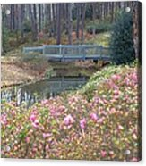 Reflections Of A Walking Bridge Acrylic Print