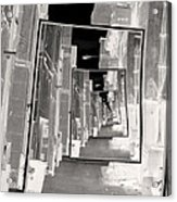 Reflections Of An Infrared Alley Acrylic Print