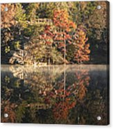 Reflections Of Fall Acrylic Print by Cindy Rubin