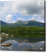 Reflections Of Katahdin At Sandy Stream Pond Acrylic Print