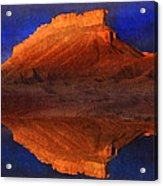 Reflections Of Miner Butte Acrylic Print