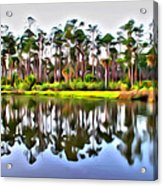 Reflections Of Pines Acrylic Print