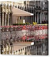Reflections Of Saint Mark's Square -day Acrylic Print