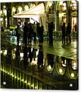 Reflections Of Saint Mark's Square-night Acrylic Print
