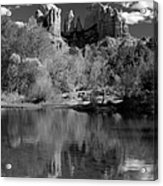 Reflections Of Sedona Black And White Acrylic Print