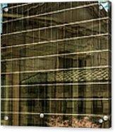 Reflections Of Union Station Acrylic Print