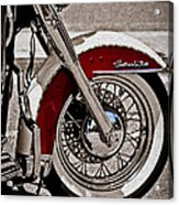 Reflections On A Motorcycle Acrylic Print