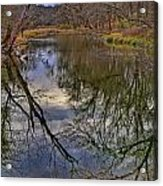 Reflections On A Warm Winter Day Acrylic Print