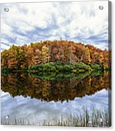 Reflections On Boley Lake Wv Acrylic Print by Dick Wood