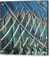 Reflections On Building Windows Acrylic Print
