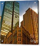 Reflections On Buildings Nyc Acrylic Print