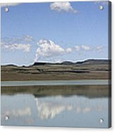 Reflections On Lake Abert Acrylic Print