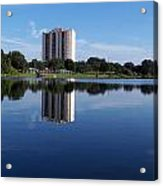 Reflections On Lake Silver Acrylic Print
