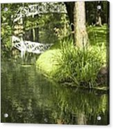 Reflections On Pond Acrylic Print