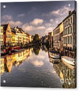 Reflections Over Ghent Acrylic Print