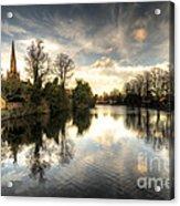 Reflections Over Lichfield Acrylic Print