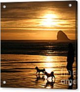 Reflections-peace At Sunset Acrylic Print