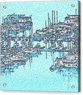 Reflective Blue Acrylic Print