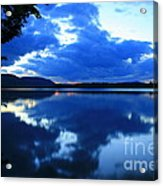 Reflective Blues On Lake Umbagog  Acrylic Print