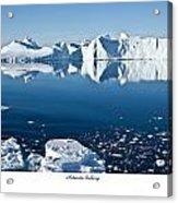 Reflective Icebergs Acrylic Print by David Barringhaus
