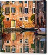 Reflective Moment In Venice Acrylic Print