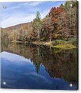 Reflection On Lake Winfield Scott 2 Acrylic Print