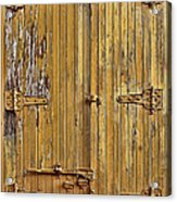 Refrigerated Boxcar Door Acrylic Print