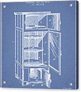 Refrigerator Patent From 1901 - Light Blue Acrylic Print