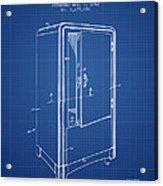 Refrigerator Patent From 1942 - Blueprint Acrylic Print