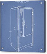 Refrigerator Patent From 1942 - Light Blue Acrylic Print