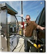 Refuelling A Natural Gas Vehicle Acrylic Print