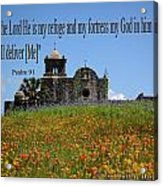 Refuge And Fortress Acrylic Print
