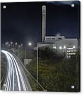 Refuse Incinerator And Busy Road Acrylic Print