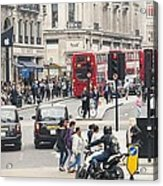 Regent Street London Acrylic Print