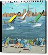Reggata On The Hudson Acrylic Print