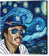 Reggie Jackson Starry Night Acrylic Print