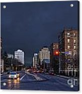 Regina Street At Night Acrylic Print
