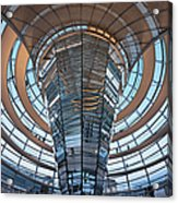 Reichstag, Dome At Dusk Acrylic Print