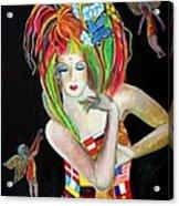 Reina De Los Angelitos Acrylic Print