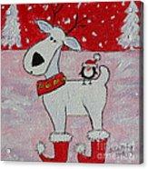 Reindeer Booties Acrylic Print